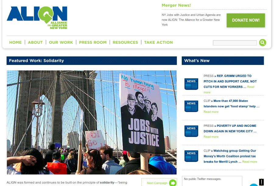The Jobs With Justice website.
